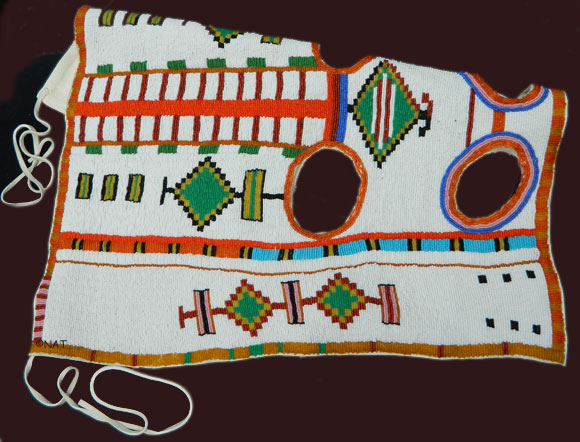 completely beaded Native American horse mask