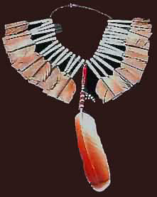 Plains Indian Feather Necklace